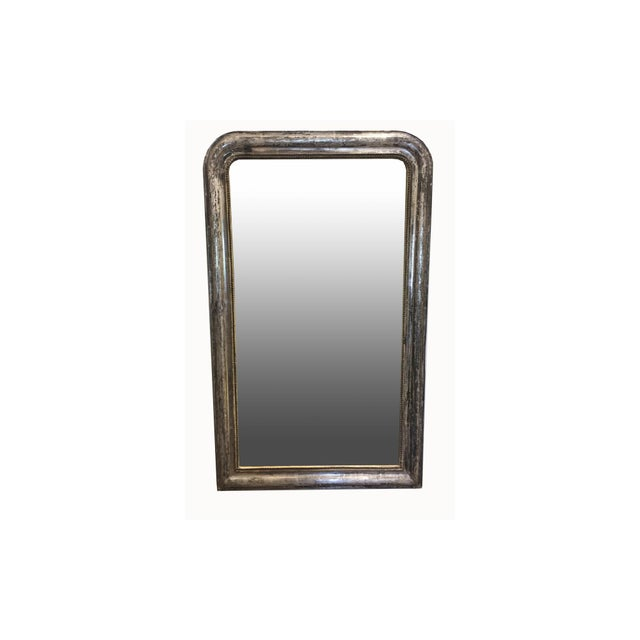 Glass Late 19th Century Silver Leaf Louis Philippe Mirror For Sale - Image 7 of 7