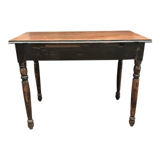 """Vintage """"Clara"""" Ring Turned Legs Table"""