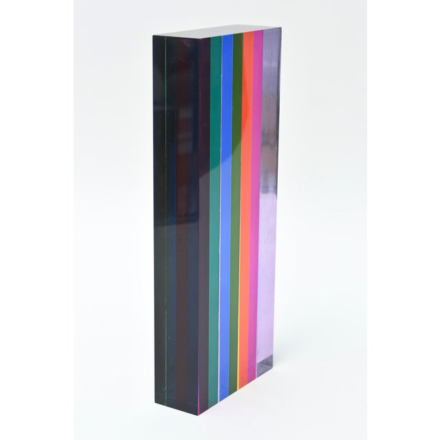 Vasa Mihich Laminatated Lucite Tower Sculpture For Sale - Image 10 of 12