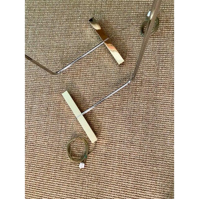 Brass Cedric Hartman Brass / Stainless Steel Height Adjustable / Swivel Floor Lamps - Set of 2 For Sale - Image 8 of 13