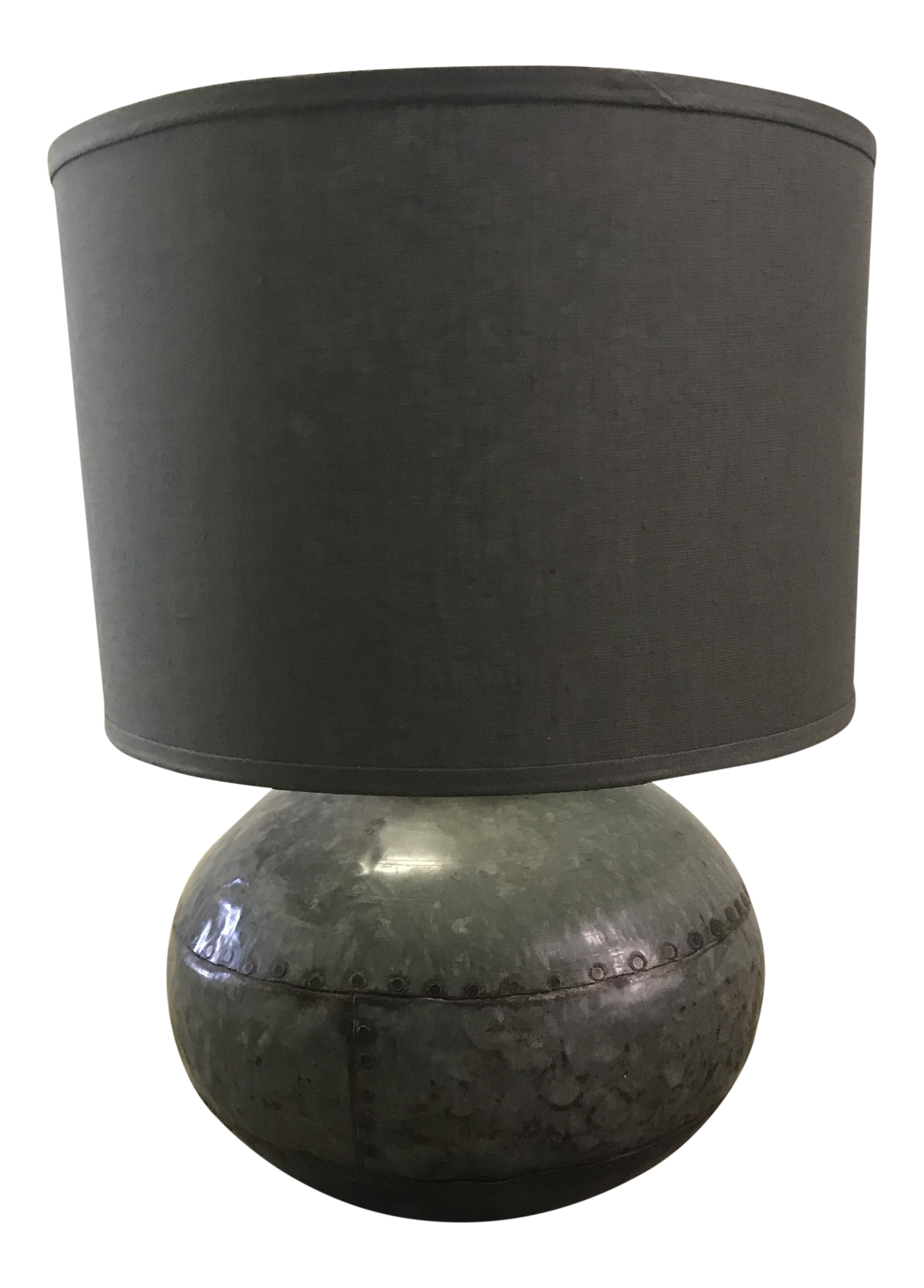 Caisson Round Metal Table Lamp Chairish