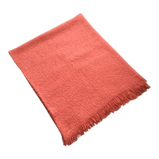 Nido Notte Italia Decorative Orange Coral Throw For Sale