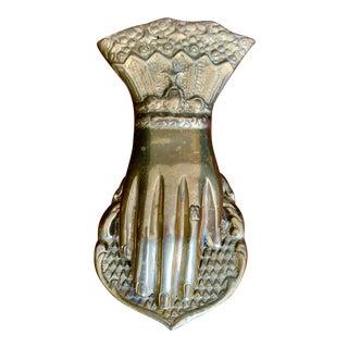 Vintage Brass Hand Paper Clip For Sale