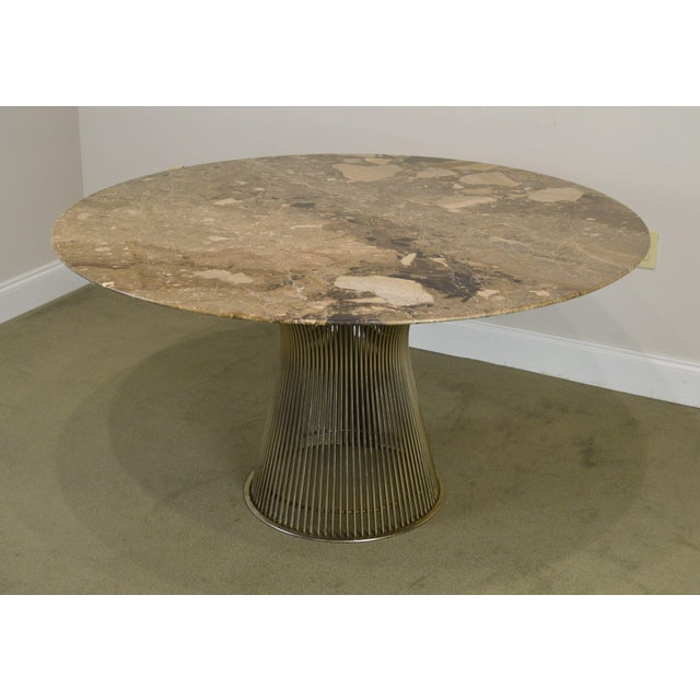 "Warren Platner for Knoll 54"" Round Marble Top Dining Table For Sale - Image 11 of 13"