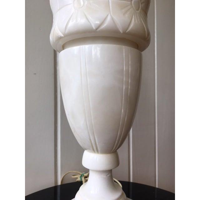 Vintage Alabaster Marble Lamp For Sale - Image 4 of 10