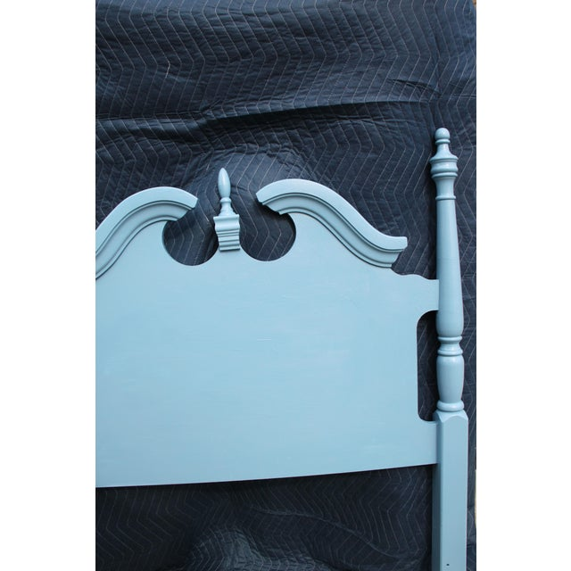 Americana Hollywood Regency Beach Blue Twin Headboards - a Pair For Sale - Image 3 of 6
