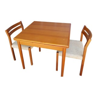 Mid-Century Modern Danish Teak Dining Set With j.l. Moller Chairs For Sale