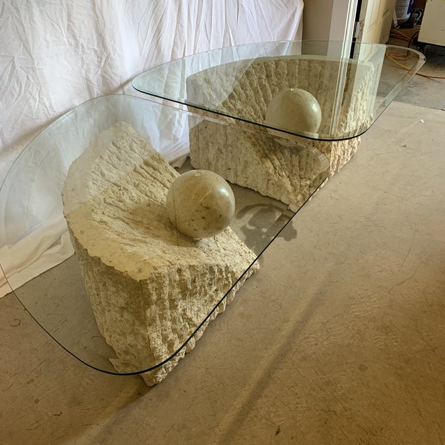 Vintage Post Modern Tessellated Stone Coffee End Tables - a Pair For Sale - Image 9 of 13