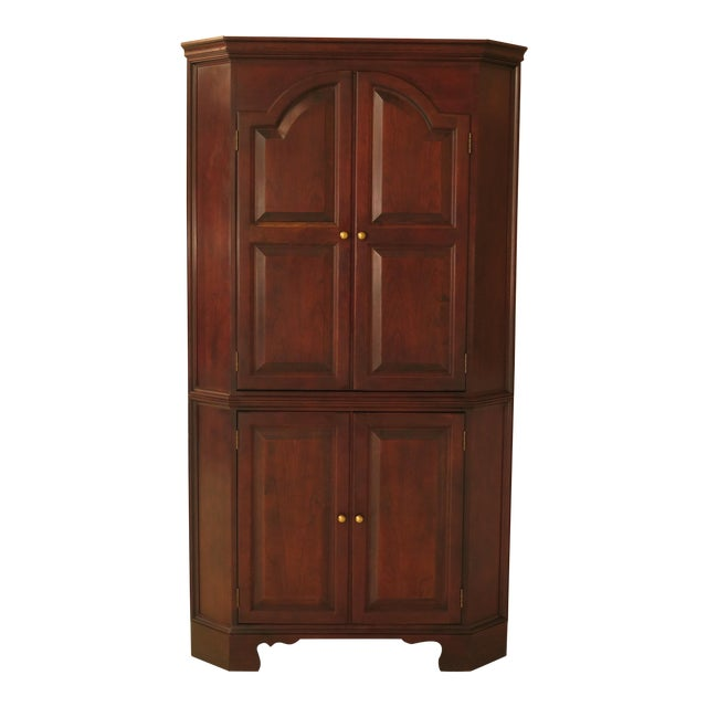 Raised Panel Door Solid Cherry Tv Corner Cabinet For Sale