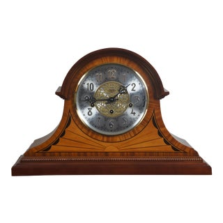 Sligh Bergen Cherry & Maple Marquetry Inlay Mantel Clock For Sale