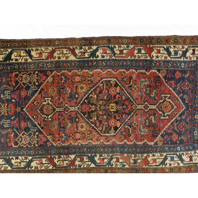 Antique Bijar Woven Wool Rug - 4′ × 7′ - Image 3 of 4