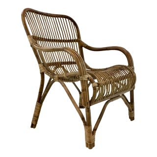 Stylish Asian Modern Rattan Lounge Chair For Sale