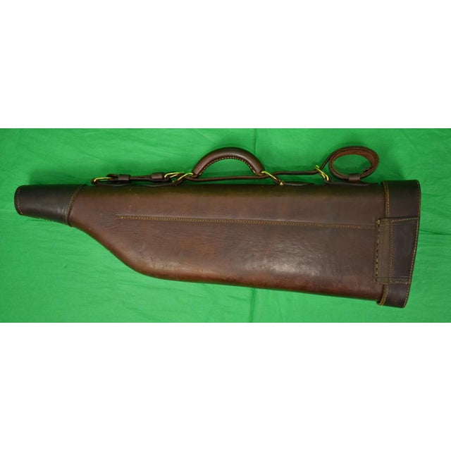 Brown Abercrombie & Fitch Leather Gun Case For Sale - Image 8 of 9