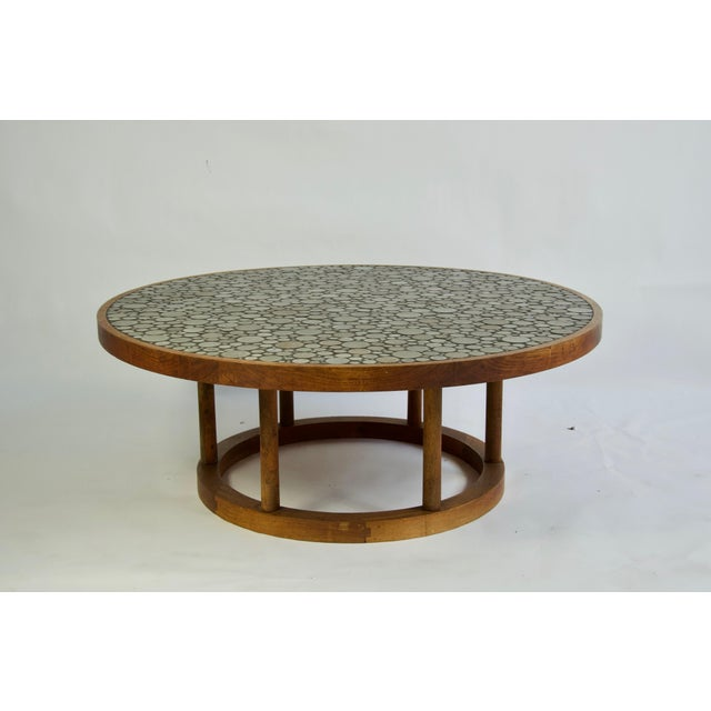 Gordon & Jane Martz Ceramic Tile-Top Coffee Table by Gordon and Jane Martz For Sale - Image 4 of 7