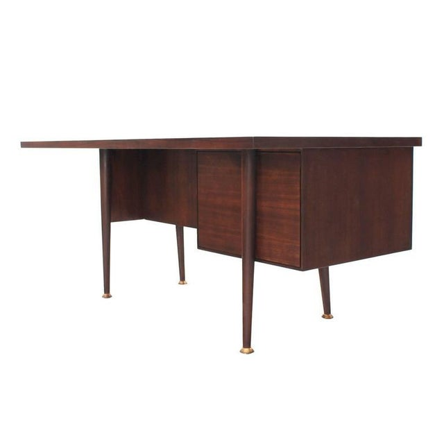 Large Executive Three-Drawer Desk or Writing Table For Sale - Image 9 of 9