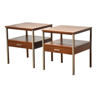 Paul McCobb Calvin Walnut Nightstands - a Pair For Sale