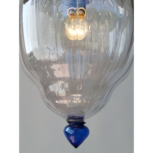 Large Art Deco Murano Glass Lantern For Sale - Image 6 of 7