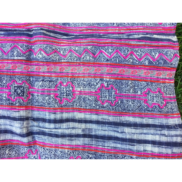 Batik Embroidered Linen Throw - Image 3 of 3