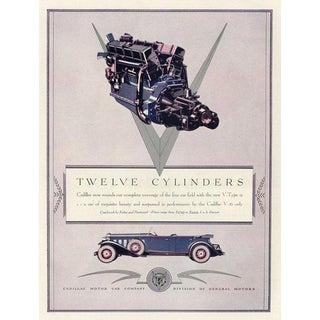 Vintage Cadillac Advertisement, 1930s For Sale