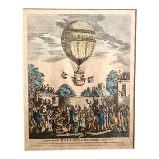 British Balloon Lithograph, Framed For Sale