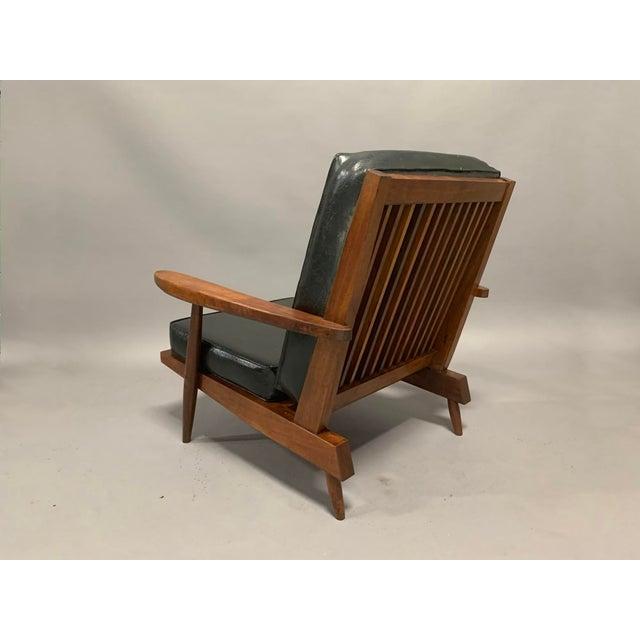 George Nakashima George Nakashima Pair of Spindle Back Lounge Chairs For Sale - Image 4 of 13