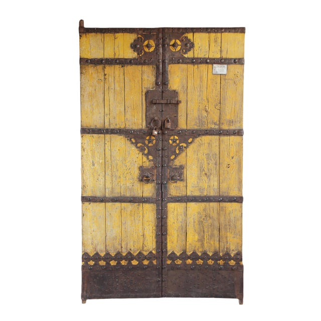 Old Chinese Wood Door - Image 1 of 7