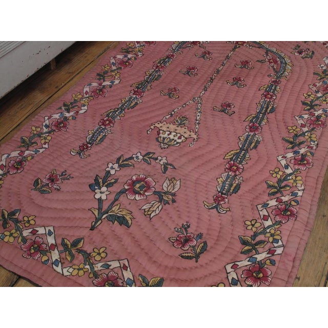 Quilted Prayer Rug For Sale - Image 4 of 10