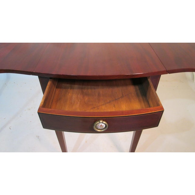 Mahogany Pembroke Tables - A Pair For Sale - Image 9 of 11