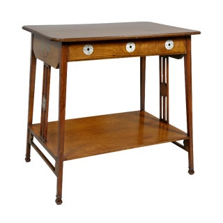 English Arts & Crafts Mahogany Table For Sale
