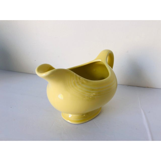 Modern Vintage Fiesta Ware Yellow Gravy Boat Old Mark For Sale - Image 3 of 6