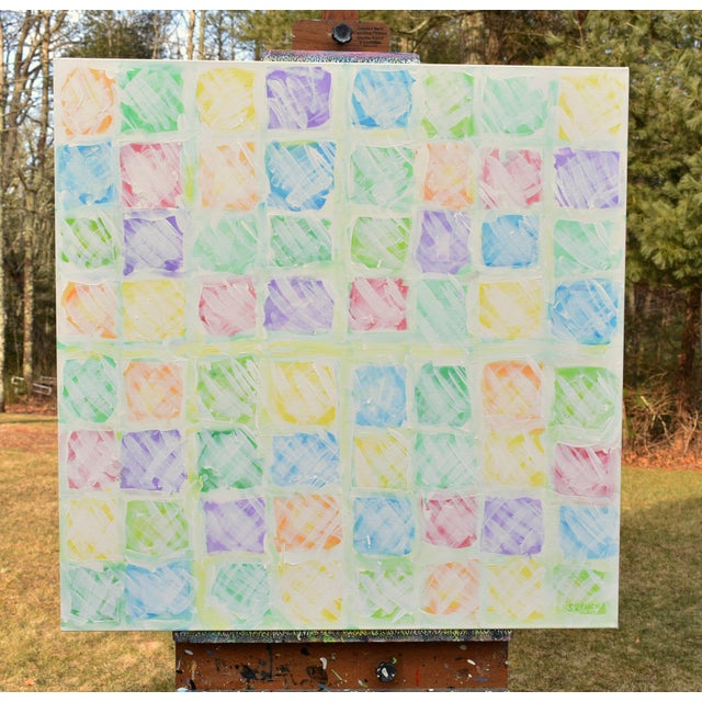 """Abstract """"Snow in the Garden"""", Contemporary Abstract Painting by Stephen Remick For Sale - Image 3 of 10"""