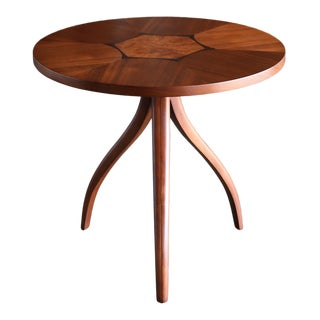 "1960s Mid-Century Modern Drexel ""Composite"" Swag Tri-Leg Side Table For Sale"