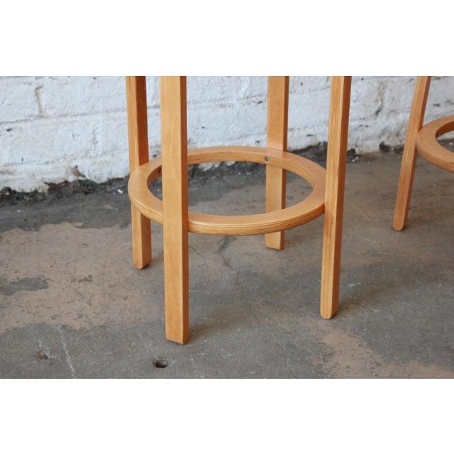 Tan Alvar Aalto for Artek Bentwood Bar Stools - a Pair For Sale - Image 8 of 9