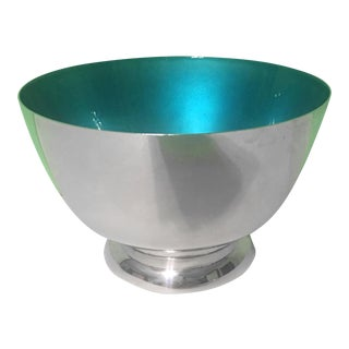 Towle Sterling Silver & Turquoise Enamel Bowl
