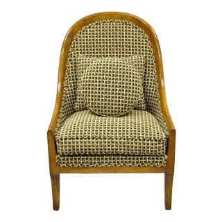 1960s Vintage Klismos Saber Leg Slipper Lounge Chair For Sale