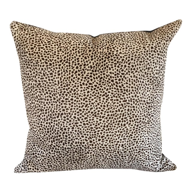 Kreiss Furniture Leopard Spotted Hide Pillow - Image 1 of 5