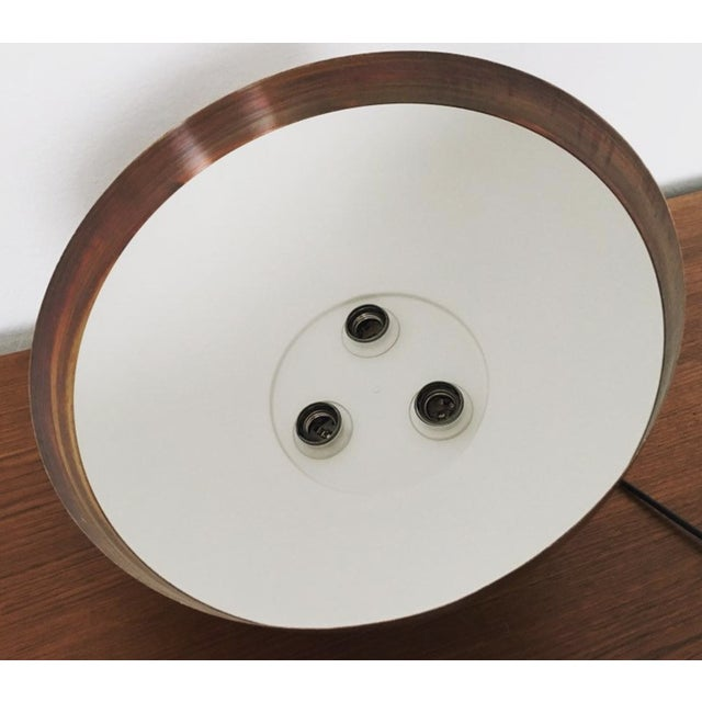 Metal Mid-Century Modern Patinated Copper Dome Pendant Lamp by Beisl For Sale - Image 7 of 9