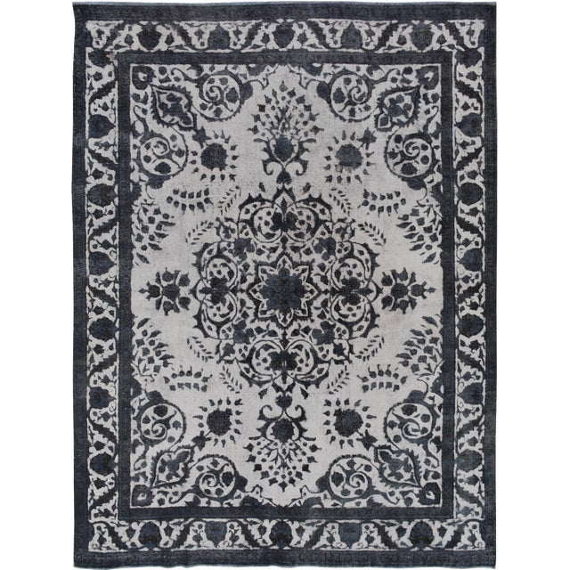 Burjusta Color Reform Frederic Gray/Gray Wool Rug - 9'3 X 11'9 A9431 For Sale