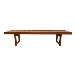 Scandinavian Bruksbo Teak Bench Table For Sale