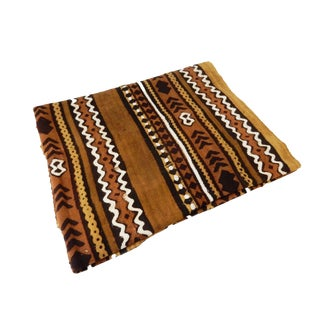 "African Mud Cloth Textile Mali 41"" by 62"" For Sale"