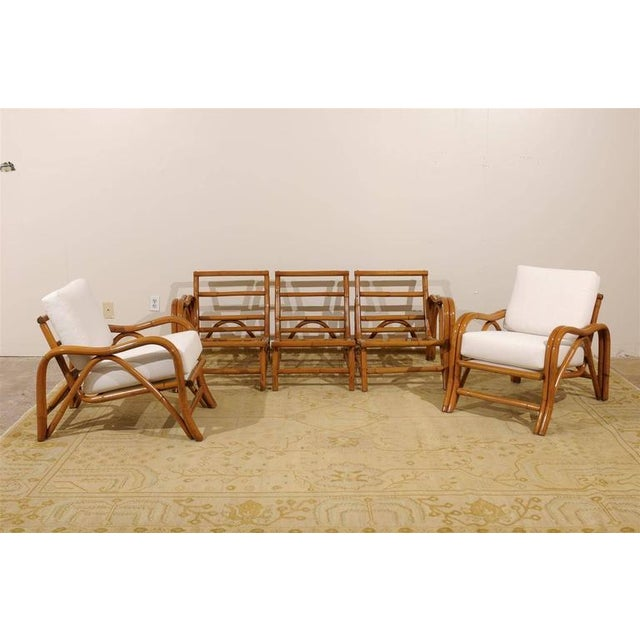 White Fantastic Pair of Restored Vintage Modern Rattan Loungers For Sale - Image 8 of 8