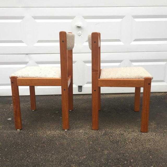 Scandinavian Modern Dining Chairs - Set of 7 - Image 4 of 11