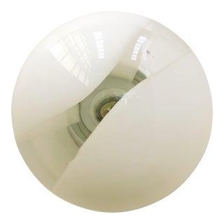 Mid 20th Century Murano Glass Half Globes Sconces / Flush Mounts by Vetri Murano For Sale