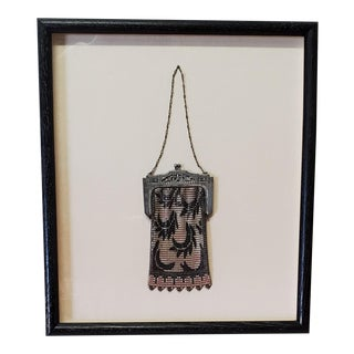 Late 19th Century Silver Framed Hand Bag For Sale