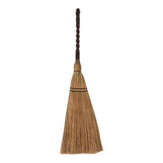 Carved Wooden Handle Fireplace Broom