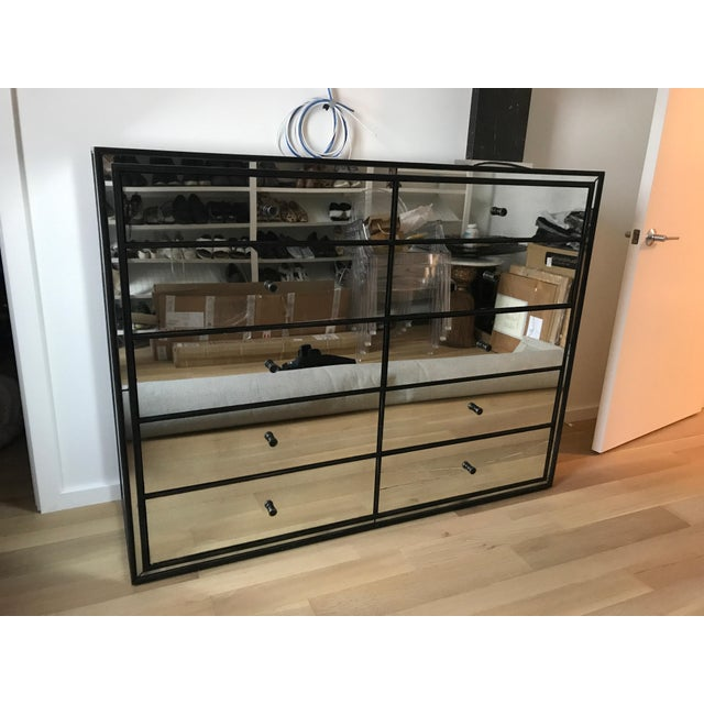 Gorgeous mirrored 10-drawer dresser from Restoration Hardware. One drawer's mirror face is cracked and needs repair. I had...