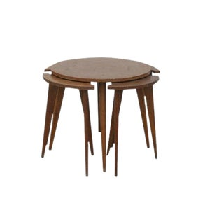 1960s Danish Modern Nesting Tables Set - 5 Pieces For Sale