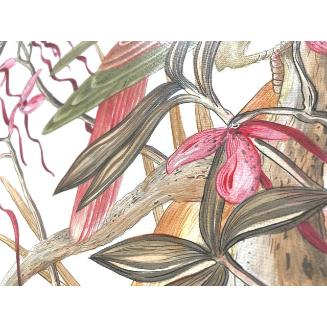 """2020s """"A Little Bird Told Me"""" Tropical Chinoiserie by Allison Cosmos For Sale - Image 5 of 6"""