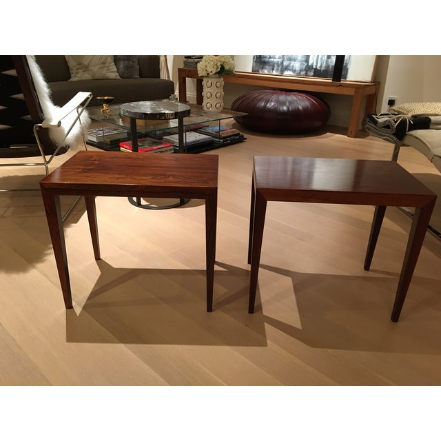 Vintage Danish Midcentury Rosewood Side Tables - 2 - Image 2 of 5
