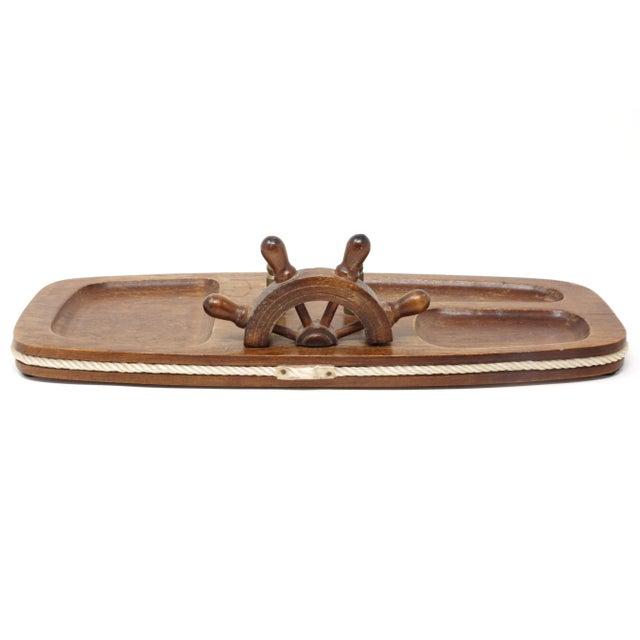 Nautical Vintage Wood Nautical Dresser Valet For Sale - Image 3 of 11